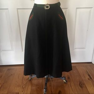 Original Hammerer Austrian green wool skirt